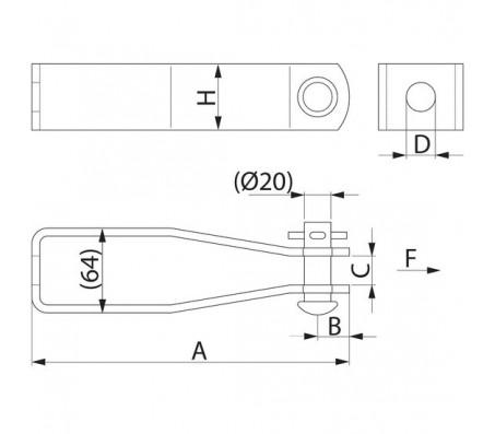 Скоба для анкерной траверсы PPS226.240