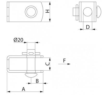 Скоба для анкерной траверсы PPS226