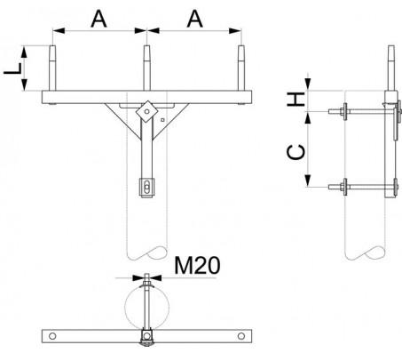 Траверса одноцепная промежуточная SH151.0