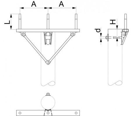 Траверса одноцепная промежуточная SH151