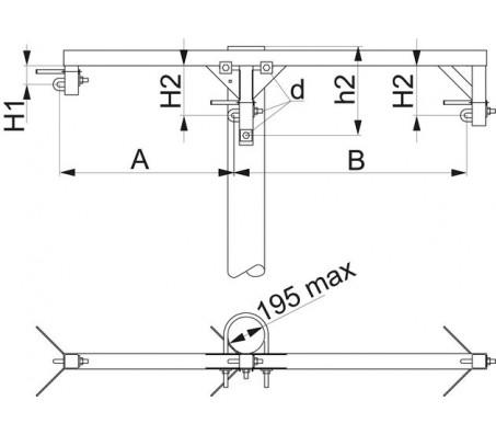 Траверса одноцепная промежуточная SH153.10