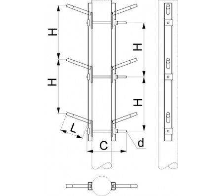 Траверса двухцепная промежуточная SH157.10