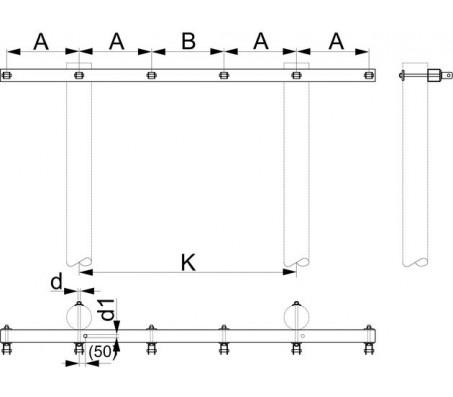 Траверса двухцепная концевая SH176.1