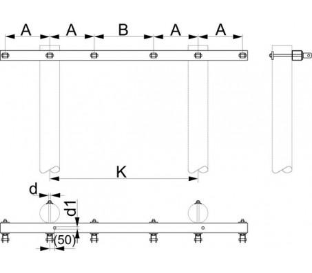 Траверса двухцепная концевая SH176