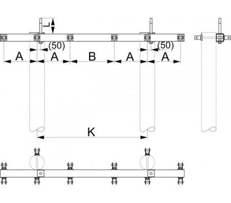 Траверса двухцепная анкерная SH177