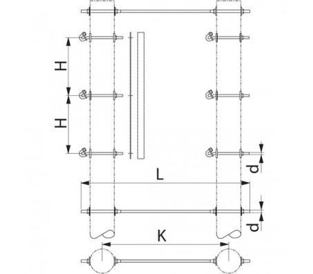 Траверса двухцепная промежуточная SH182