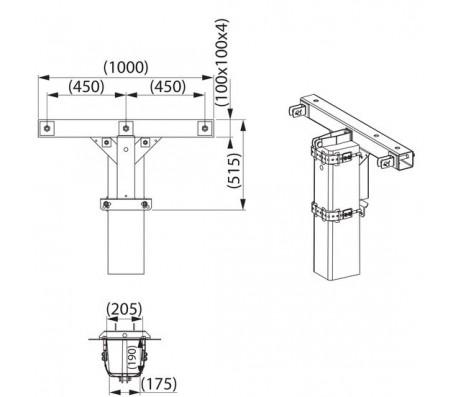 Траверса одноцепная концевая SH188.3R
