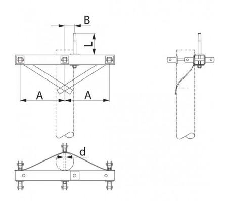 Траверса одноцепная концевая SH188