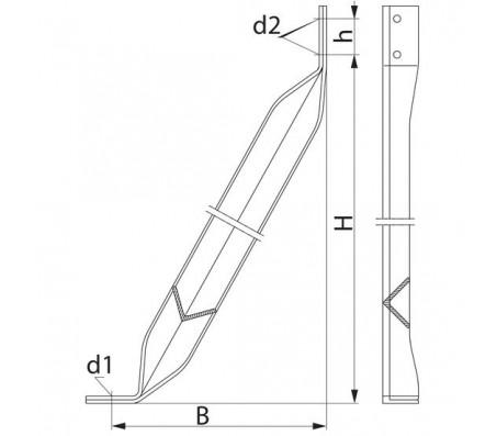 Ригель для крепления на скальном грунте SH244.3
