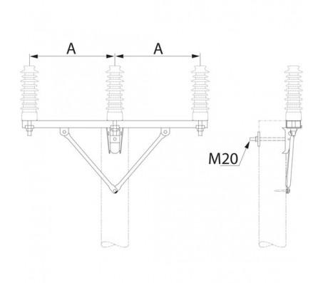 Траверса одноцепная промежуточная SH248