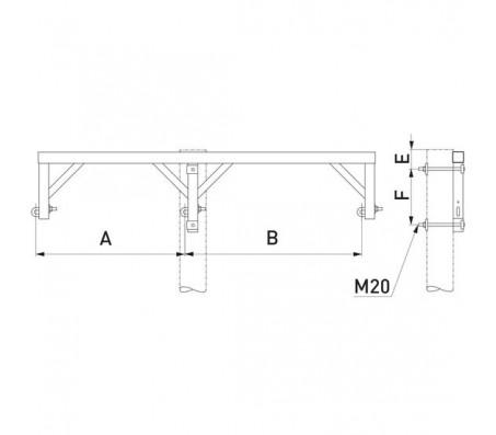 Траверса одноцепная промежуточная SH250