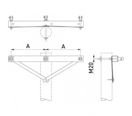Траверса одноцепная концевая SH252