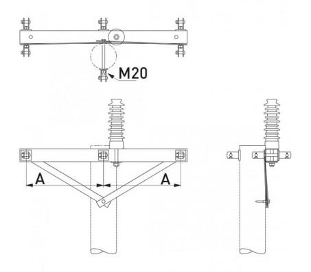 Траверса одноцепная анкерная SH253
