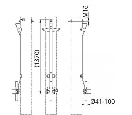 Кронштейн для ОПН и кабеля SH536