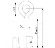 Анкер троса оттяжки для скального грунта SH79