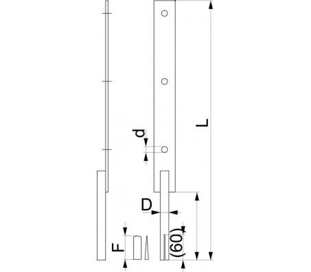 Анкер деревянной стойки для скального грунта SH82