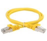 ITK Коммутационный шнур (патч-корд), кат.5Е FTP, 0,5м, желтый