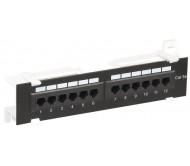 ITK Настенная патч-панель кат.5Е UTP, 12 портов (IDC Dual)