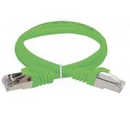 ITK Коммутационный шнур (патч-корд), кат.5Е FTP, 0,5м, зеленый