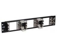 ITK 2U рама для 9 плинтов типа Krone, LSA-PLUS, черная